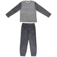 Mens Fleece Pyjamas - Stripe