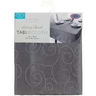 Small Spiral Tablecloth - Charcoal