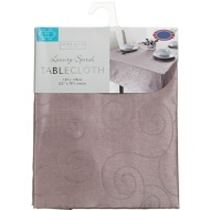 Small Spiral Tablecloth - Champagne