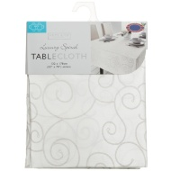 Small Spiral Tablecloth - Pale Mauve