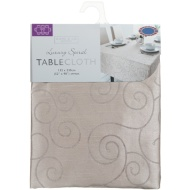 Large Spiral Tablecloth - New Gold
