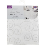 Large Spiral Tablecloth - Pale Mauve