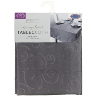 Large Spiral Tablecloth - Charcoal