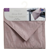 Large Spiral Table Runner - Champagne