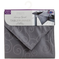 Large Spiral Table Runner - Charcoal