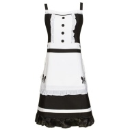 Dress Apron - Black & White