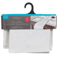 Luxury Glitter Place Mats & Table Runner Set 5pc