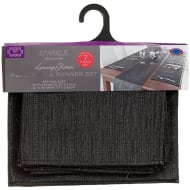 Luxury Glitter Place Mats & Table Runner Set 7pc