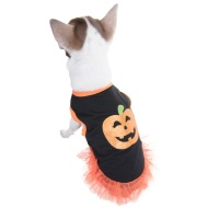 Dogs Halloween Dress - Pumpkin