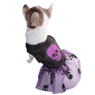 Dogs Halloween Dress - Skull