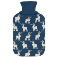 Knitted Hot Water Bottle 2L - Blue Deer
