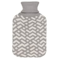 Knitted Hot Water Bottle 2L - Grey