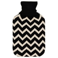 Knitted Hot Water Bottle 2L - Zig Zag