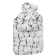 Deluxe Fur Hot Water Bottle - Animal Prints