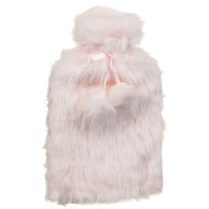 Deluxe Fur Hot Water Bottle - Pink