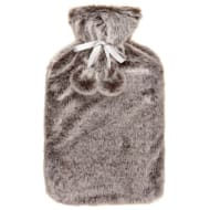 Deluxe Fur Hot Water Bottle - Natural