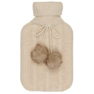 Cable Knit Hot Water Bottle 2L - Cream