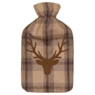 Heritage Collection Hot Water Bottle 2L - Brown Stag Head