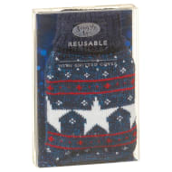 Reusable Mini Hottie Knitted Hand Warmer - Blue Stars