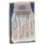 Reusable Mini Hottie Knitted Hand Warmer - Grey Woodland