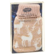 Reusable Mini Hottie Knitted Hand Warmer - Reindeer