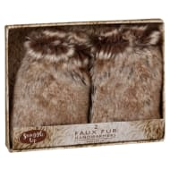 Fur Hand Warmers 2pk - Brown