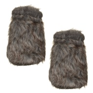 Fur Hand Warmers 2pk - Grey