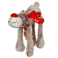 Christmas Cuddle Chums Squeaky Dog Toy - Reindeer