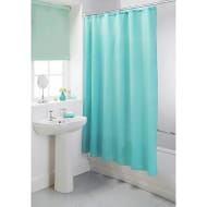 Plain Shower Curtain - Aqua