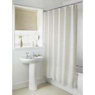 Plain Shower Curtain - Cream