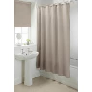 Plain Shower Curtain - Mink