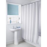 Plain Shower Curtain - White