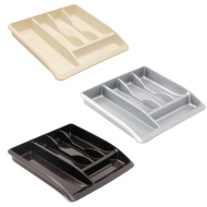 Addis Cutlery Drawer Organiser - Black