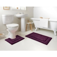Signature Bath Mat - Plum
