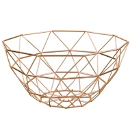 Geometric Fruit Basket - Copper