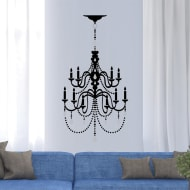 Jewelled Silhouette Wall Sticker - Chandelier