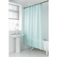 Geo Shower Curtain - Aqua Scallop