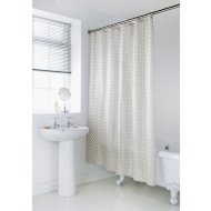 Geo Shower Curtain - Natural Scallop