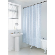 Geo Shower Curtain - Blue Chevron