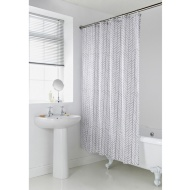 Geo Shower Curtain - Grey Chevron