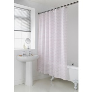 Geo Shower Curtain - Coral Heart