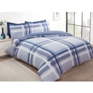 Check Double Duvet Set Twin Pack