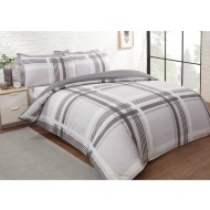 Check King Duvet Twin Pack - Grey