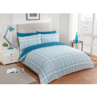 Check King Duvet Twin Pack - Duck Egg