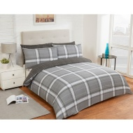 Check King Duvet Twin Pack - Mono