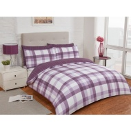 Check King Duvet Twin Pack - Purple