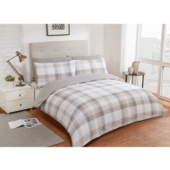 Check King Duvet Twin Pack - Natural