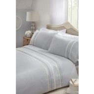 Zara Lace Complete King Bed Set - Silver