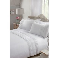 Zara Lace Double Duvet Set - White