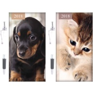 Cats & Dogs Slim Diary 2018